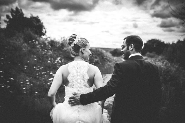 2017, Max & Juliane in Hessen, Hochzeitsshooting, schwarz weiß