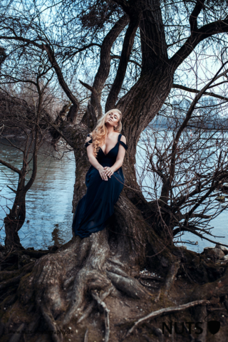 Mannheim, Fotoshooting an der Silberpappel mit Lucia