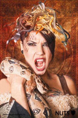 Medusa, Shooting, Studio, Schlange, Kostüm